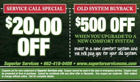 Superior Services Coupons